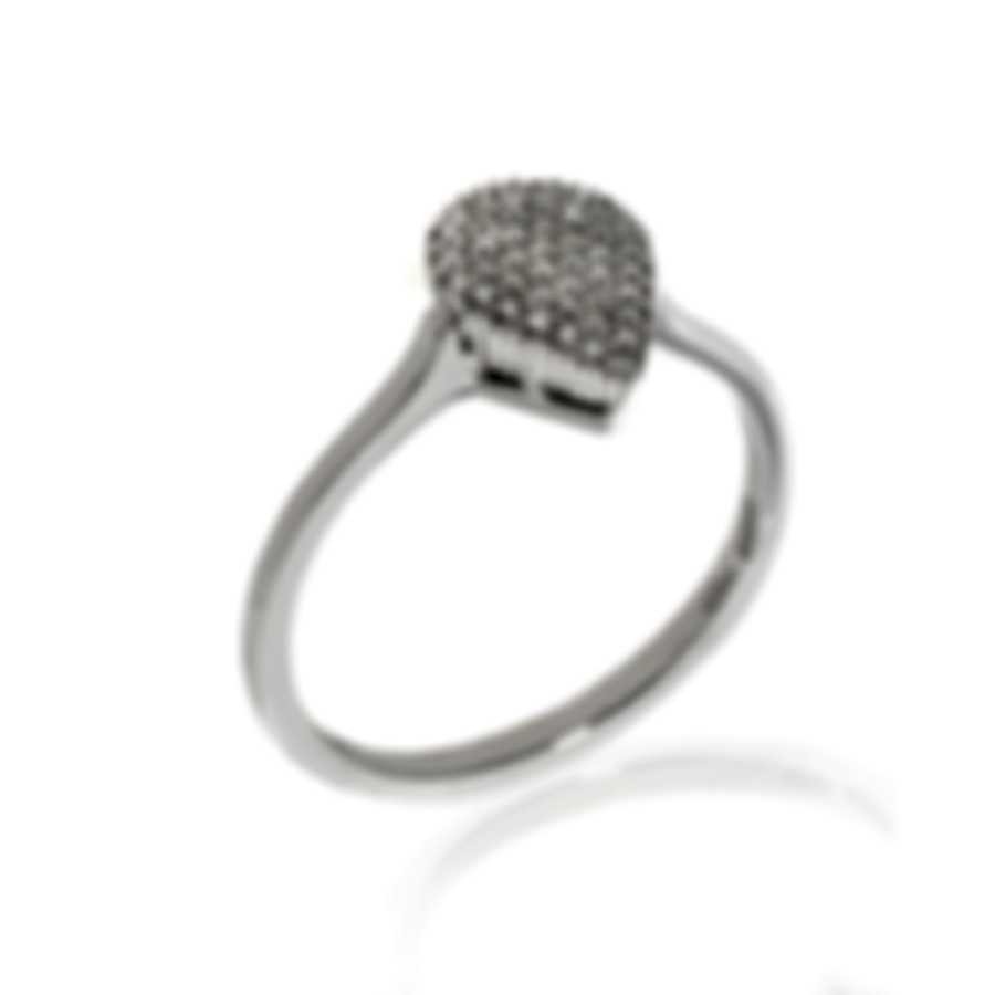Bliss By Damiani 18k White Gold Diamond 0.16ct Ring 20039370-2