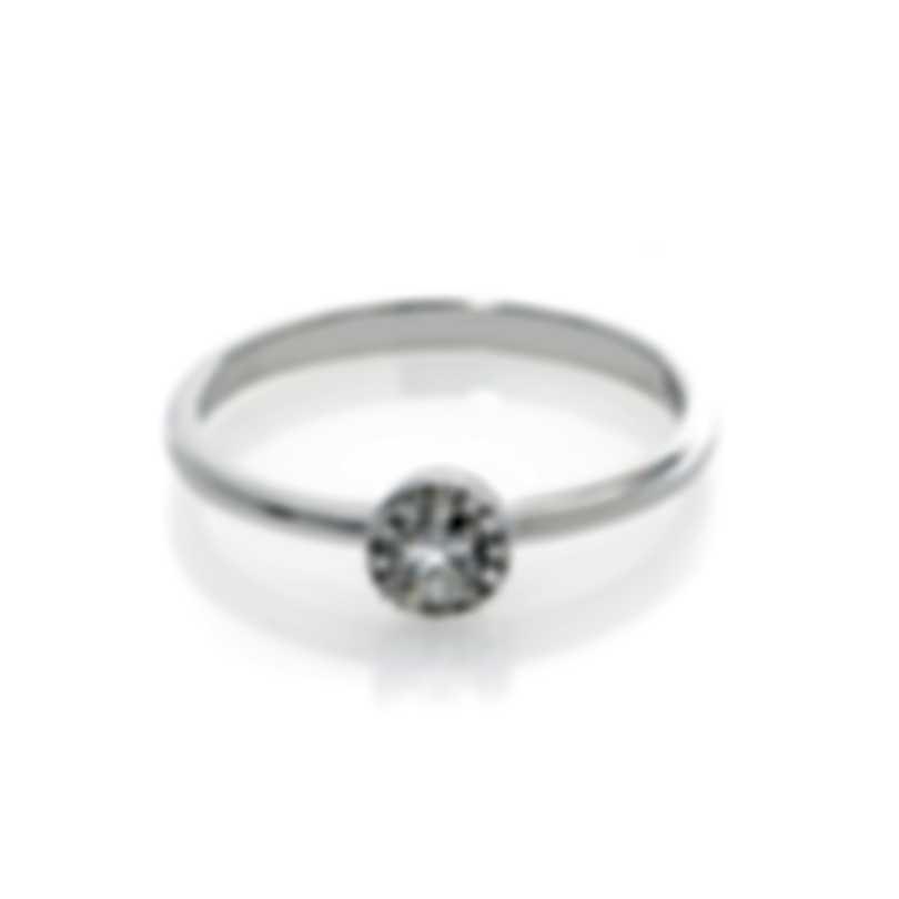Bliss By Damiani 18k White Gold Diamond 0.13ct Ring Sz 6.5 20058392