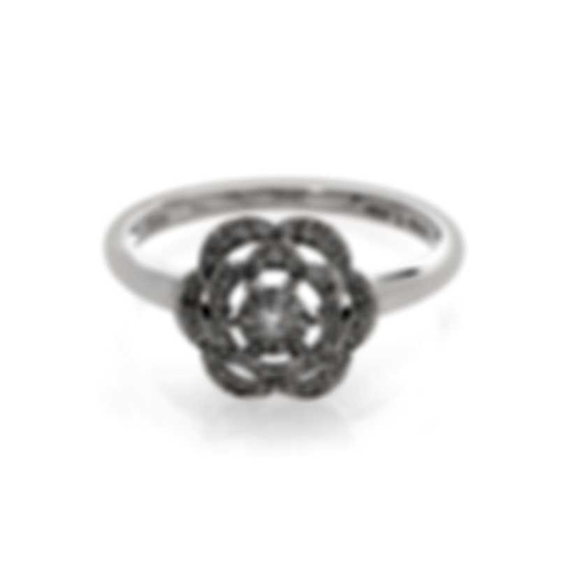 Bliss By Damiani 18k White Gold Diamond 0.15ct Ring Sz 6.5 20066942