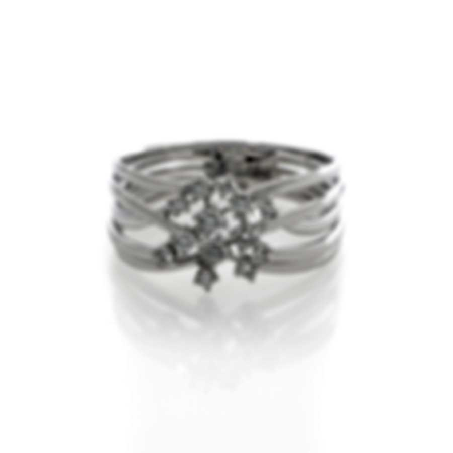 Bliss By Damiani 18k White Gold Diamond 0.18ct Ring 20067001-1-1
