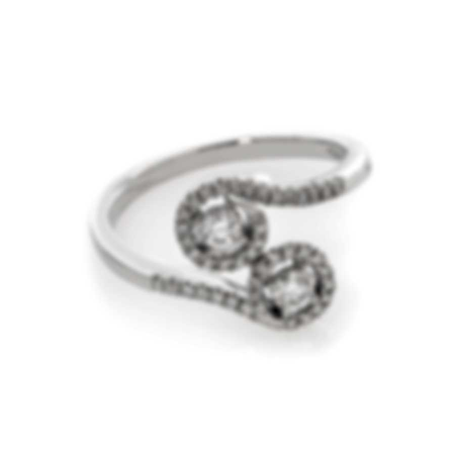 Bliss By Damiani 18k White Gold Diamond 0.41ct Ring Sz 6.25 20067129