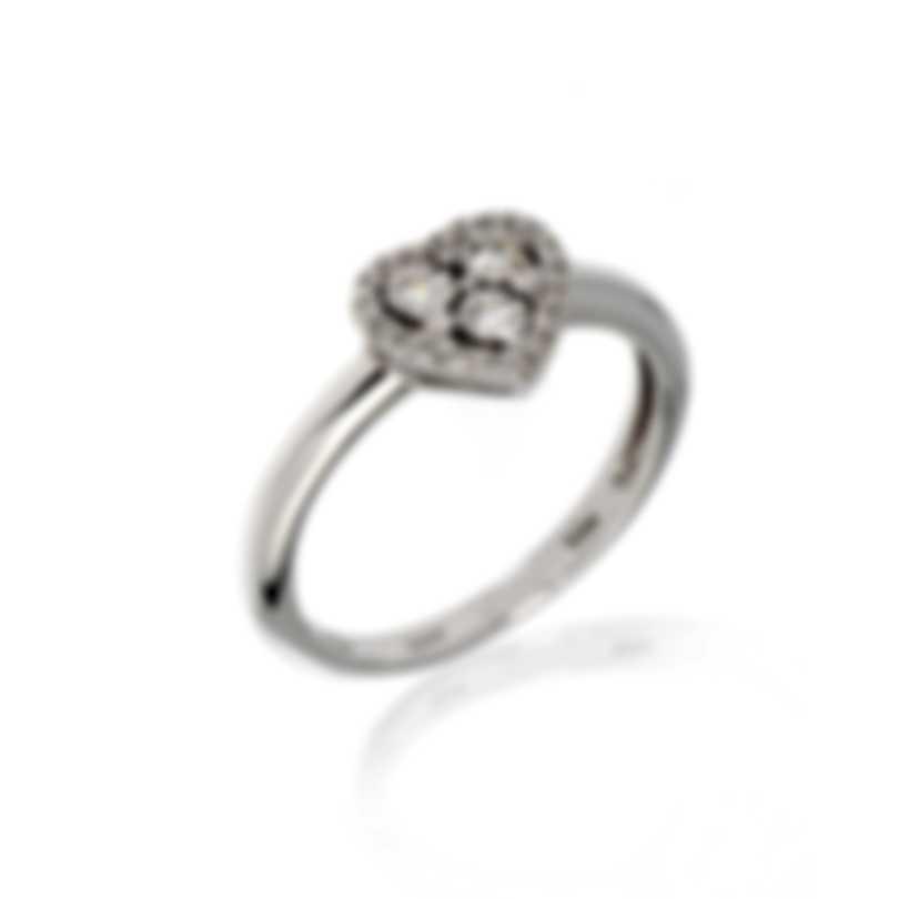 Bliss By Damiani 18k White Gold Diamond 0.17ct Ring 20067368-1