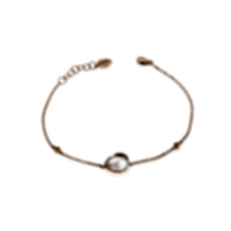 Bliss By Damiani 18k Rose Gold Diamond 0.02ct And Cabochon Rosa Bracelet 20067465