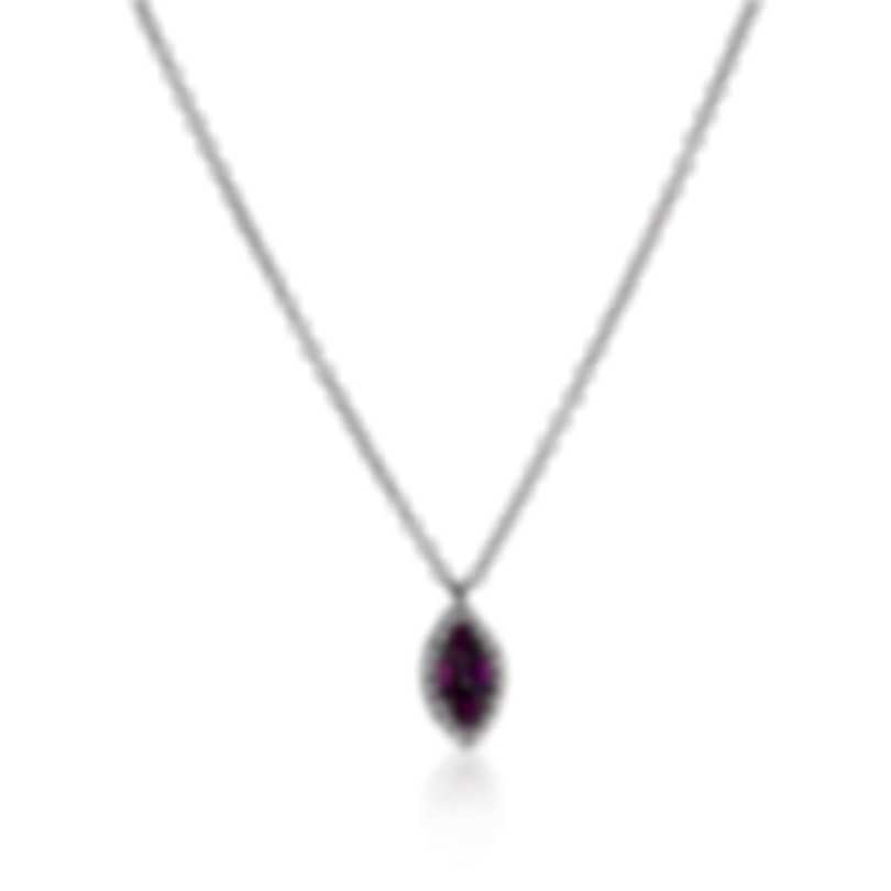 Bliss By Damiani 18k White Gold Diamond 0.08ct And Ruby Necklace 20069574