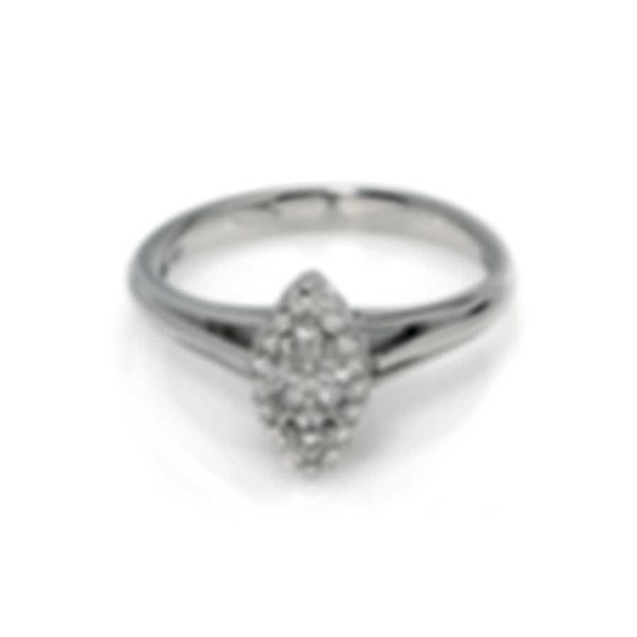 Bliss By Damiani 18k White Gold Diamond 0.27ct Ring Sz 7.25 20069571