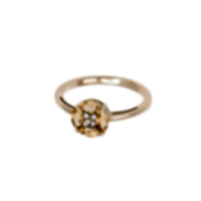 Bliss By Damiani 18k Yellow Gold Diamond 0.03ct & Citrine Ring Sz 6.25 20069645