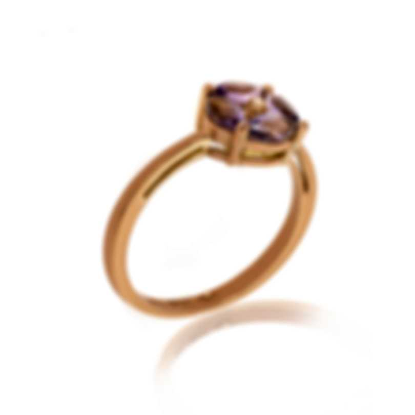 Bliss By Damiani 18k Rose Gold Diamond 0.03ct And Amethyst Ring 20069643-625