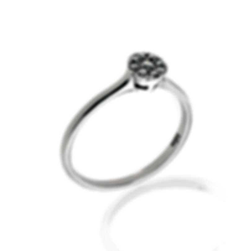 Bliss By Damiani 18k White Gold Diamond 0.14ct Ring Sz 6.25 20060560