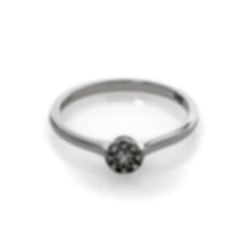 Bliss By Damiani 18k White Gold Diamond 0.09ct Ring Sz 6.25 20060561