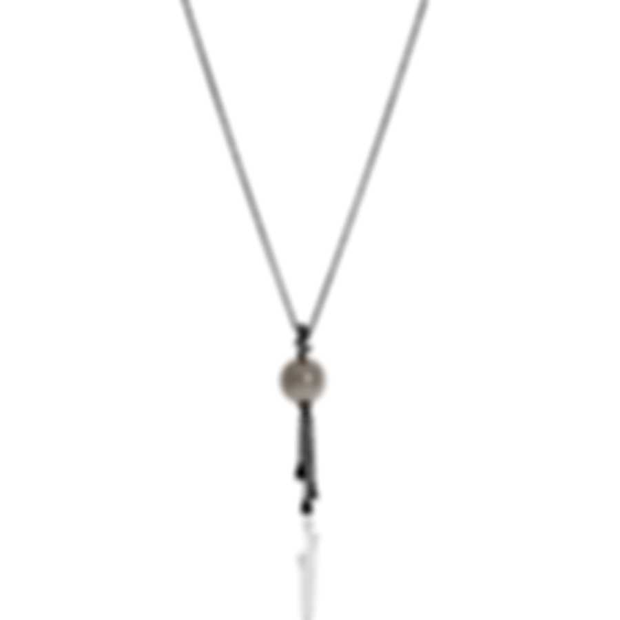 Bliss By Damiani 18k White Gold Diamond(0.04ct Twd)and Pearl Necklace 20061951