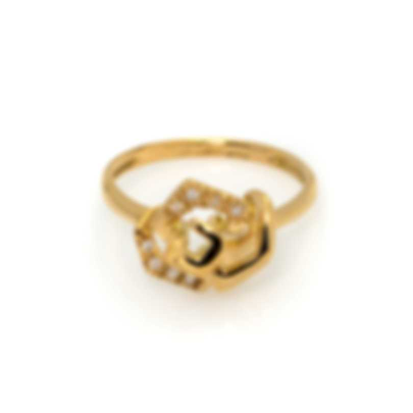 Bliss By Damiani 18k Yellow Gold Diamond 0.04ct Ring Sz 7.25 20074359
