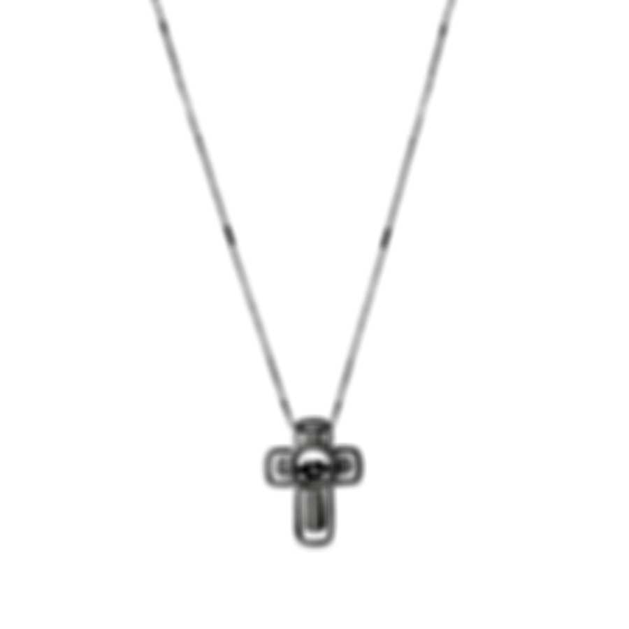 Bliss By Damiani 18k White Gold Diamond 0.05ct Cross Necklace 20075476
