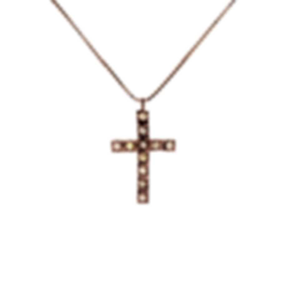 Bliss By Damiani 18k Rose Gold Brown Diamond(0.11ct Twd.)Necklace 20077236