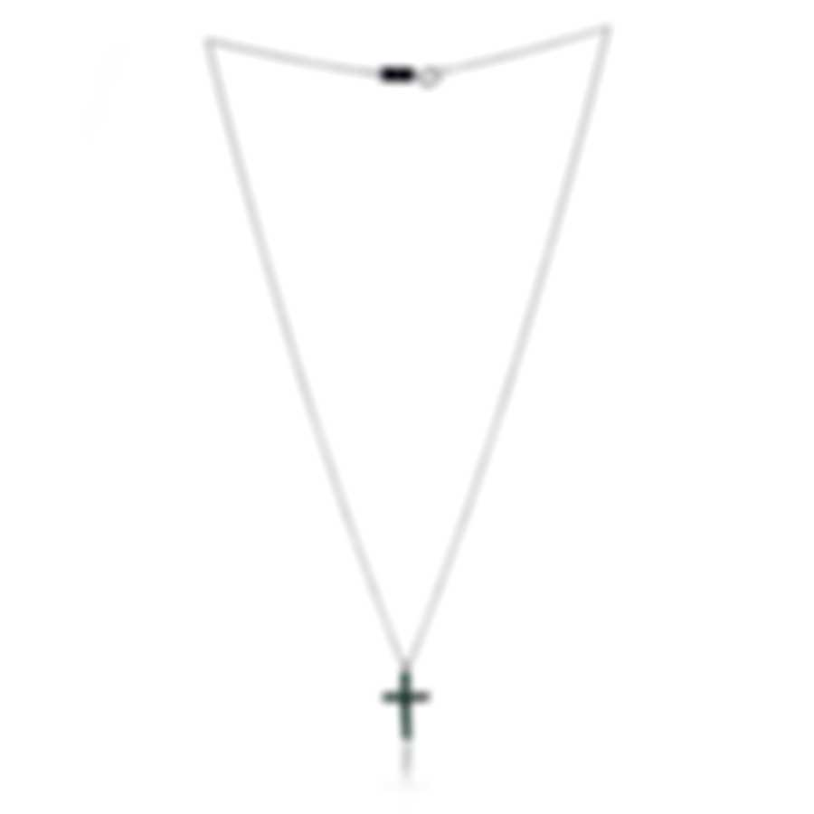 Bliss By Damiani 18k White Gold And Emerald Necklace 20077247