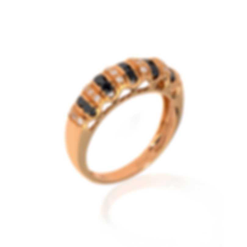 Bliss By Damiani 18k Rose Gold Black & White Diamond 0.58ct Ring Sz 6 20077840