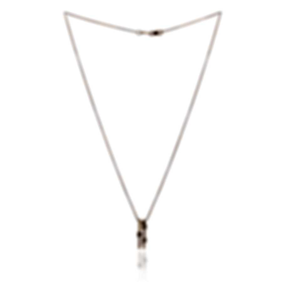 Bliss By Damiani 18k Rose Gold Brown And White Diamond 0.31ct Necklace 20079257