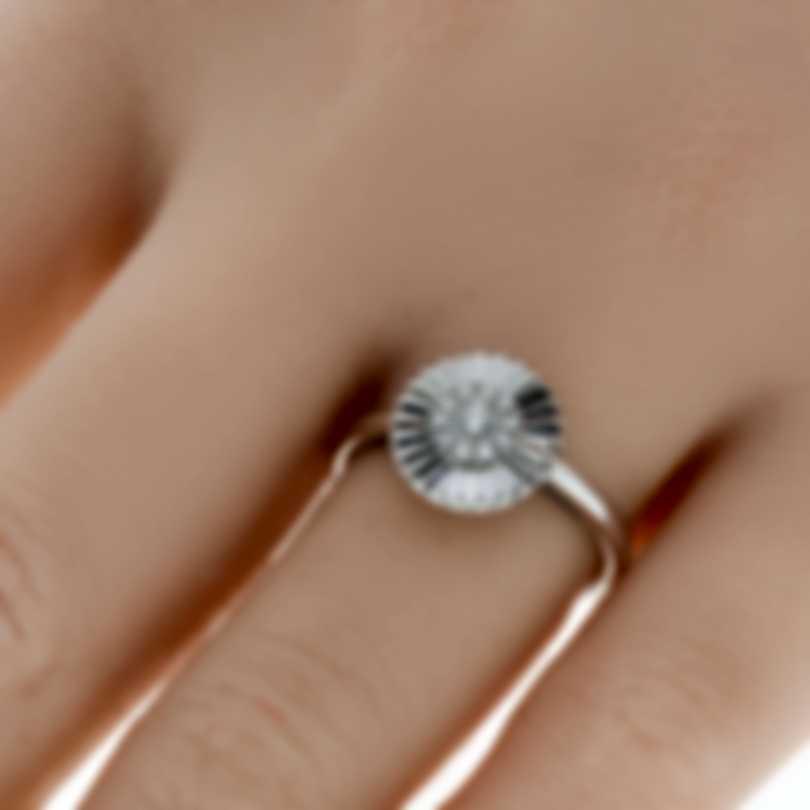 Bliss By Damiani 18k White Gold Diamond 0.18ct Ring 20070835-1