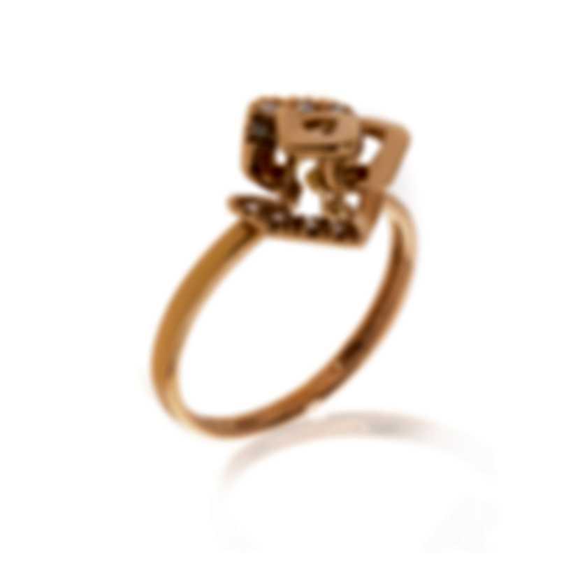 Bliss By Damiani 18k Rose Gold Diamond 0.04ct Ring 20070895-1