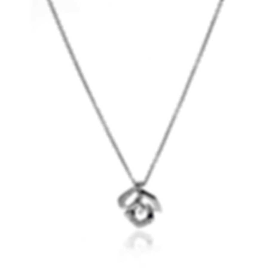 Bliss By Damiani 18k White Gold Diamond 0.04ct Necklace 20070896