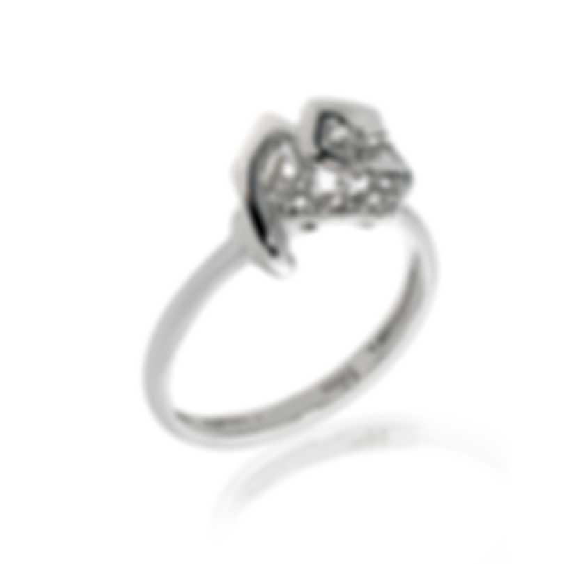 Bliss By Damiani 18k White Gold Diamond 0.04ct Ring 20070893-1