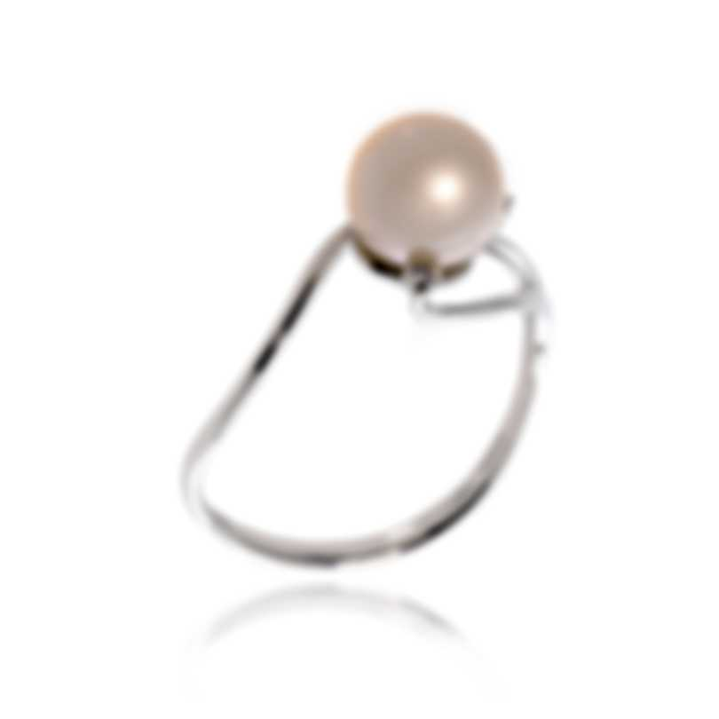 Bliss By Damiani 18k White Gold Diamond 0.02ct And Pearl Ring 20073759-1-1