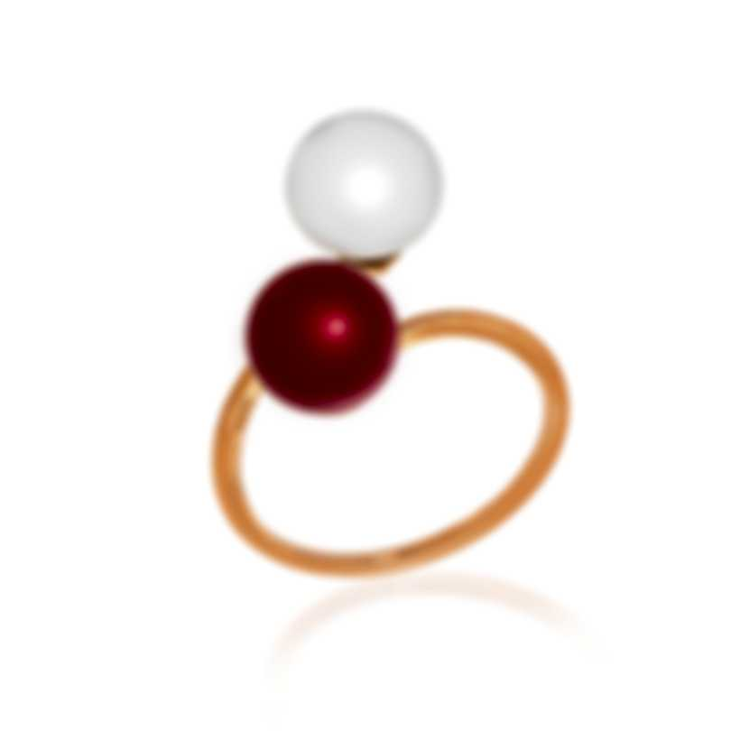 Bliss By Damiani 18k White Gold And Pearl Ring 20073912-1-1