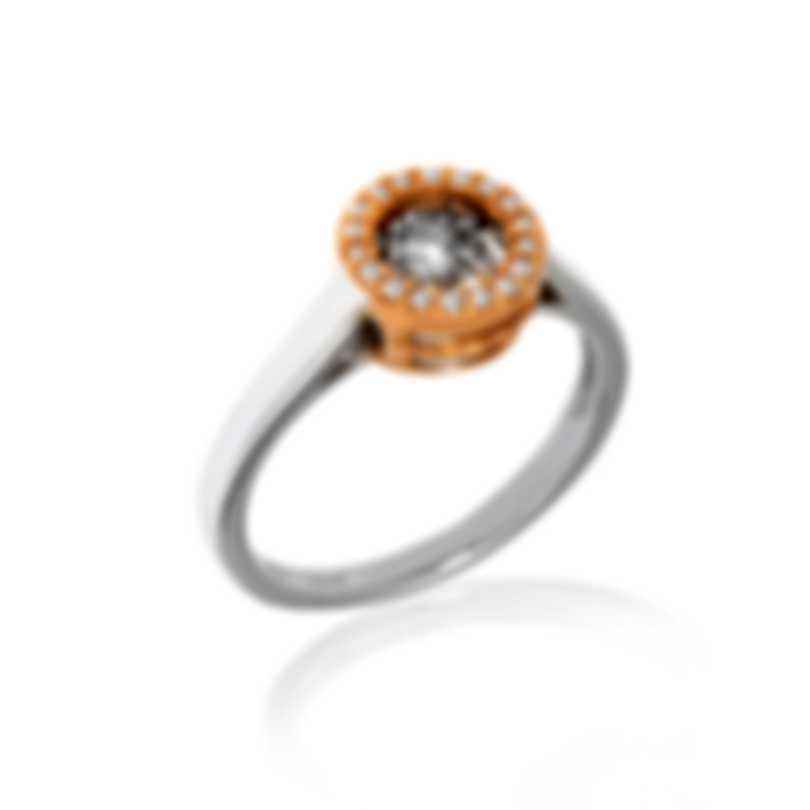 Bliss By Damiani 18k White Gold Diamond 0.12ct Ring Sz 6.25 20073939