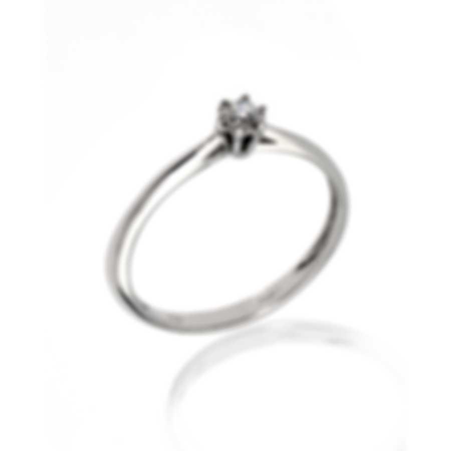 Bliss By Damiani 18k White Gold Diamond 0.1ct Ring Sz 7.5 20084211