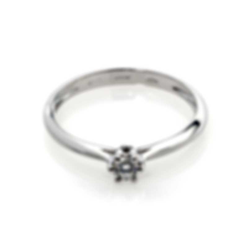 Bliss By Damiani 18k White Gold Diamond 0.015ct Ring Sz 6.25 20084212