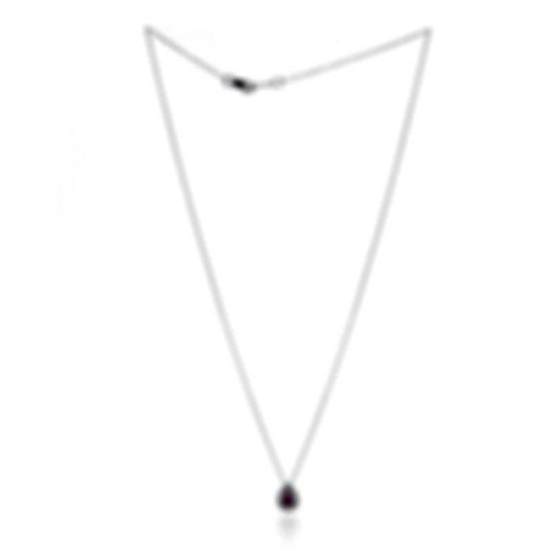 Bliss By Damiani 18k White Gold Diamond(0.11ct Twd) Ruby Necklace 20085142