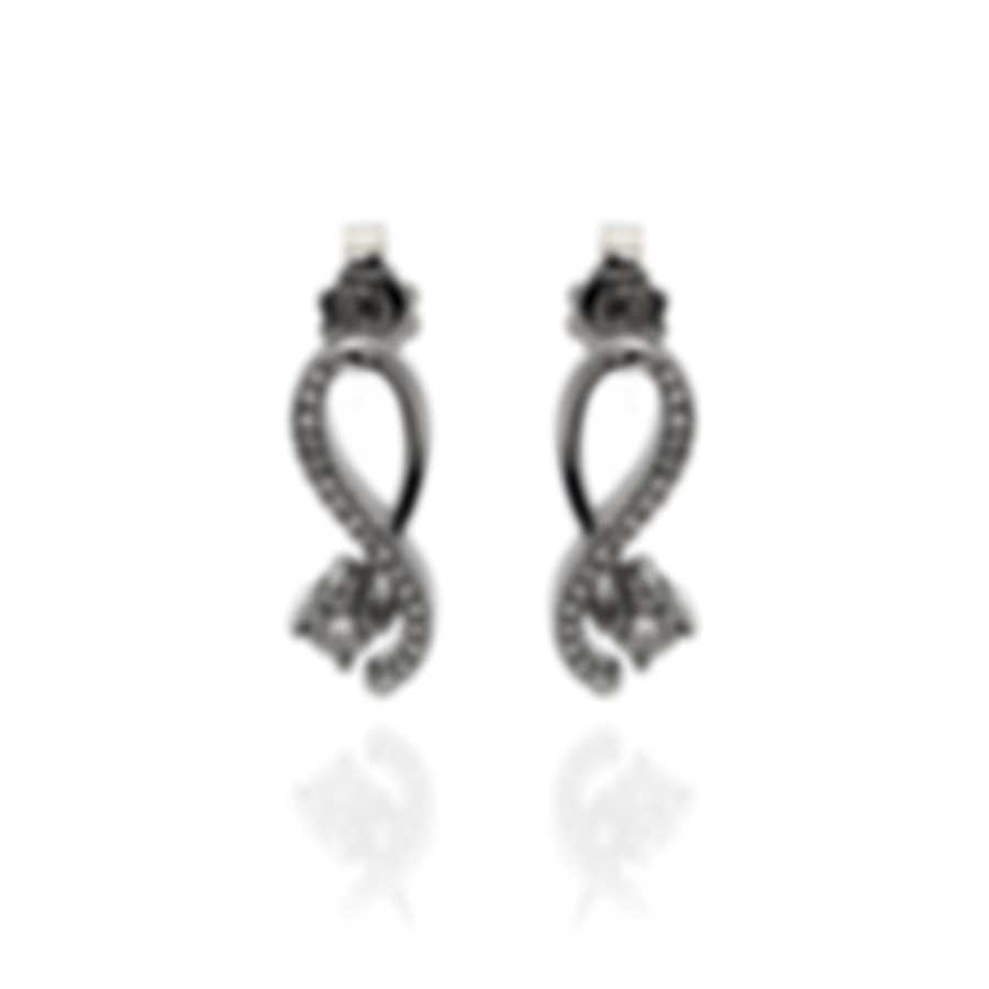 Bliss By Damiani 18k White Gold Diamond 0.1ct Earrings 20081301