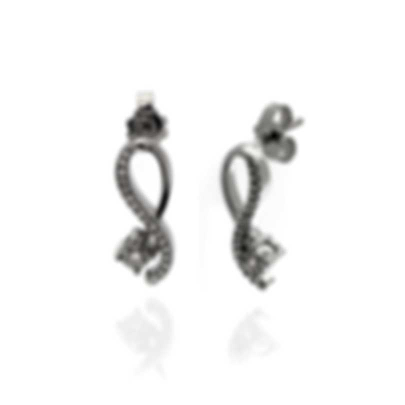 Bliss By Damiani 18k White Gold Diamond 0.1ct Earrings 20081301