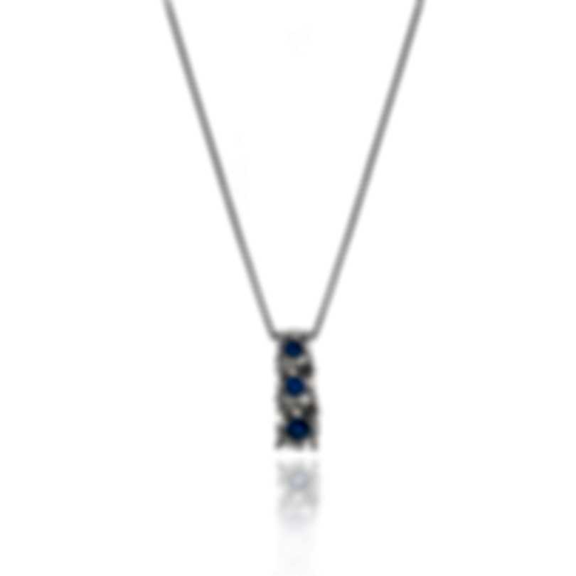 Bliss By Damiani 18k White Gold And Sapphire Necklace 20082841