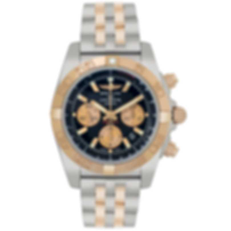 Breitling Chronomat 18k Rose Gold And Stainless Steel Automatic Men's Watch CB0110121B1C1