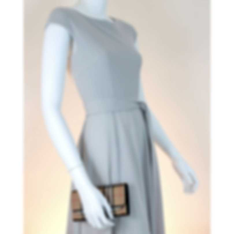 Burberry Halton Vintage Check & Black Leather Clutch Wallet 4071410