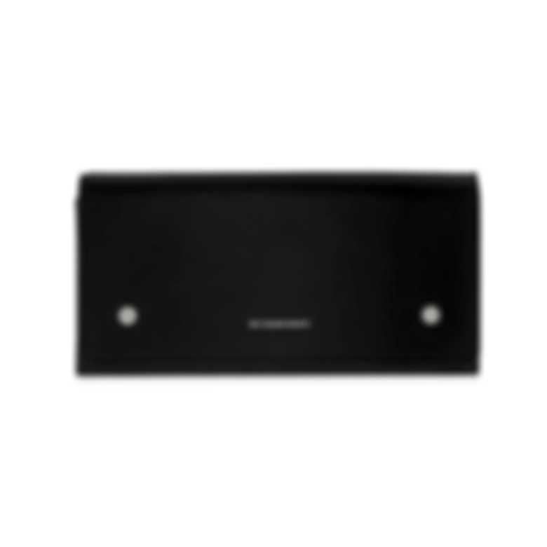 Burberry Continental Black & Emerald Leather Clutch Wallet 4075093