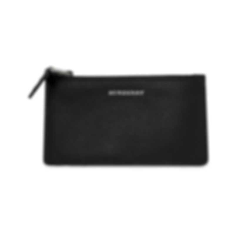 Burberry Somerset Black & Emerald Leather Card Holder Wallet 4075107