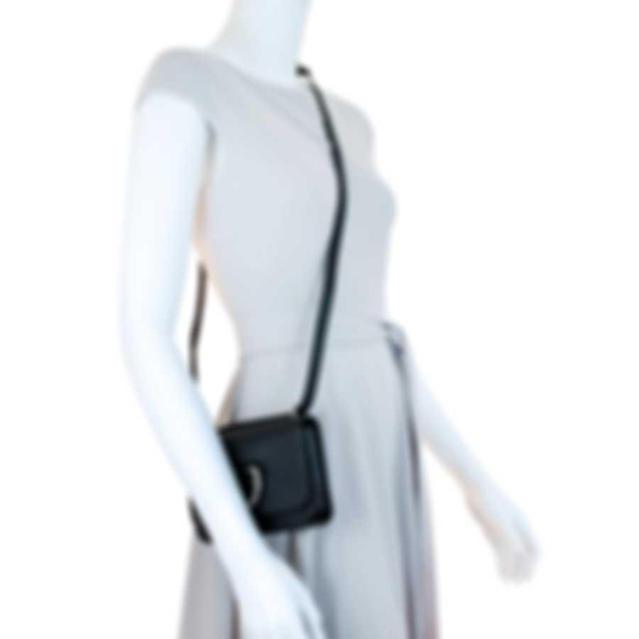 Burberry Mini D-Ring Black & Emerald Leather Crossbody Handbag 4076704