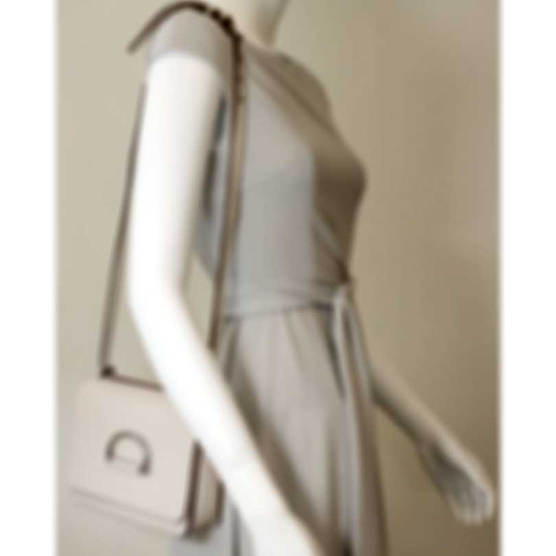 Burberry D-Ring Stone & Turquoise Leather Shoulder Handbag 4076289