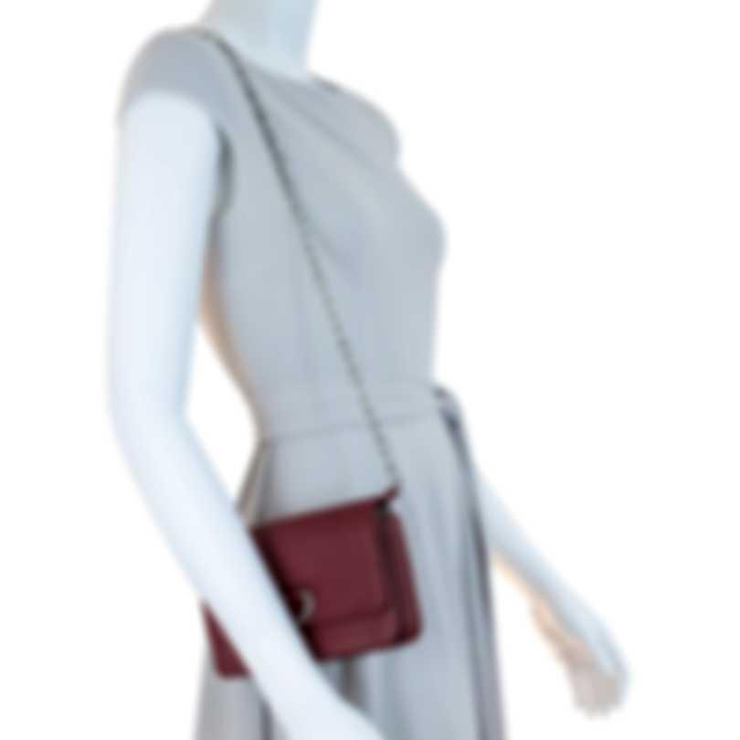 Burberry Mini D-Ring Crimson & Stone Leather Shoulder Handbag 8004571