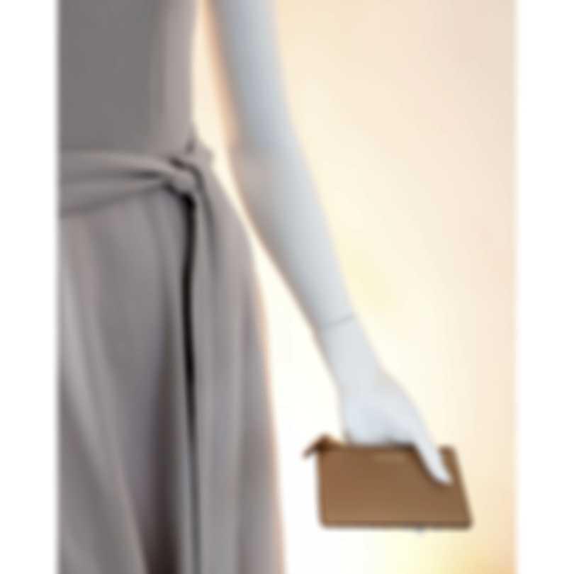 Burberry Somerset Light Camel & Ash Rose Leather Card Holder Handbag 8005552