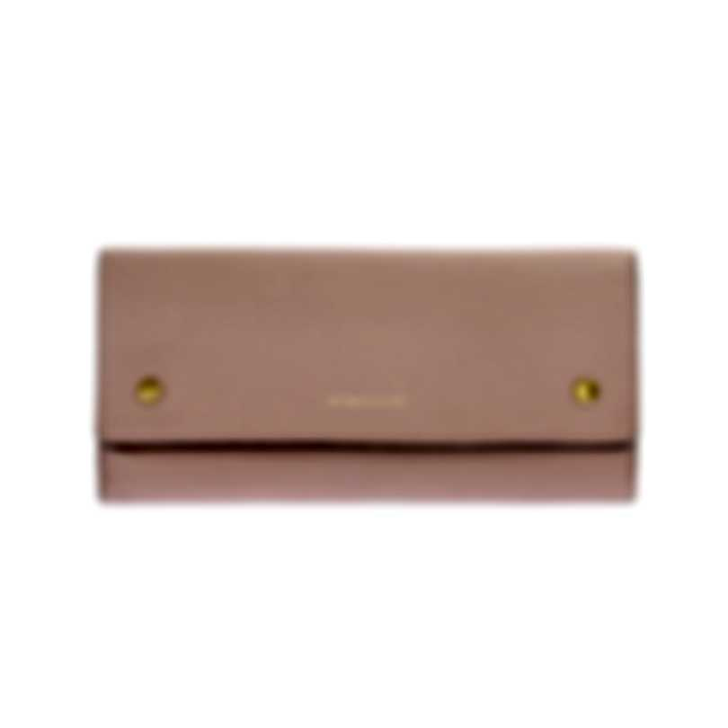 Burberry Ash Rose & Flaxseed Leather Clutch Wallet 8005555