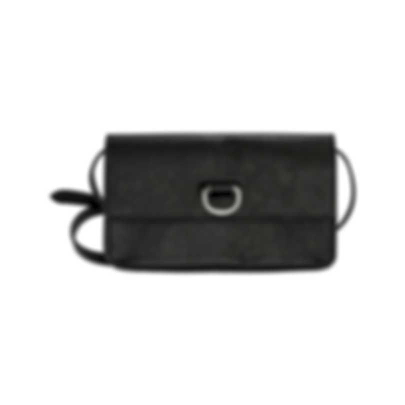 Burberry D-Ring Black & Emerald Leather Shoulder Handbag 8005344