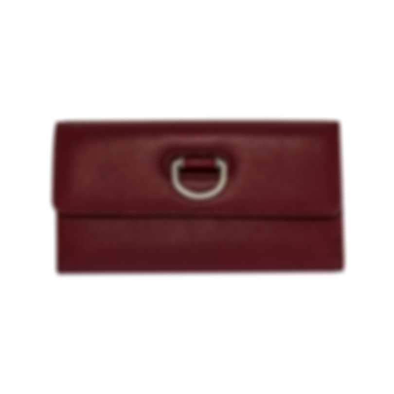 Burberry D-Ring Crimson & Stone Leather Clutch Wallet 8005358