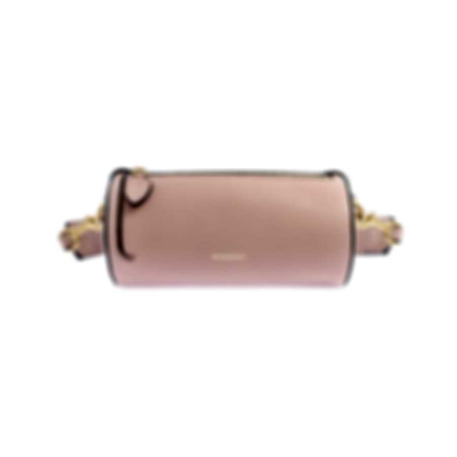 Burberry Mini Barrel Ash Rose & Flaxseed Leather Crossbody Handbag 8006706