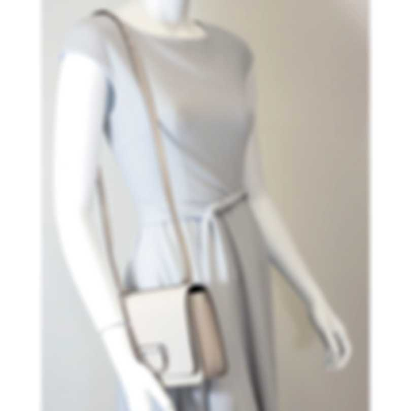 Burberry D-ring Stone & Turquoise Leather Shoulder Handbag 8010541
