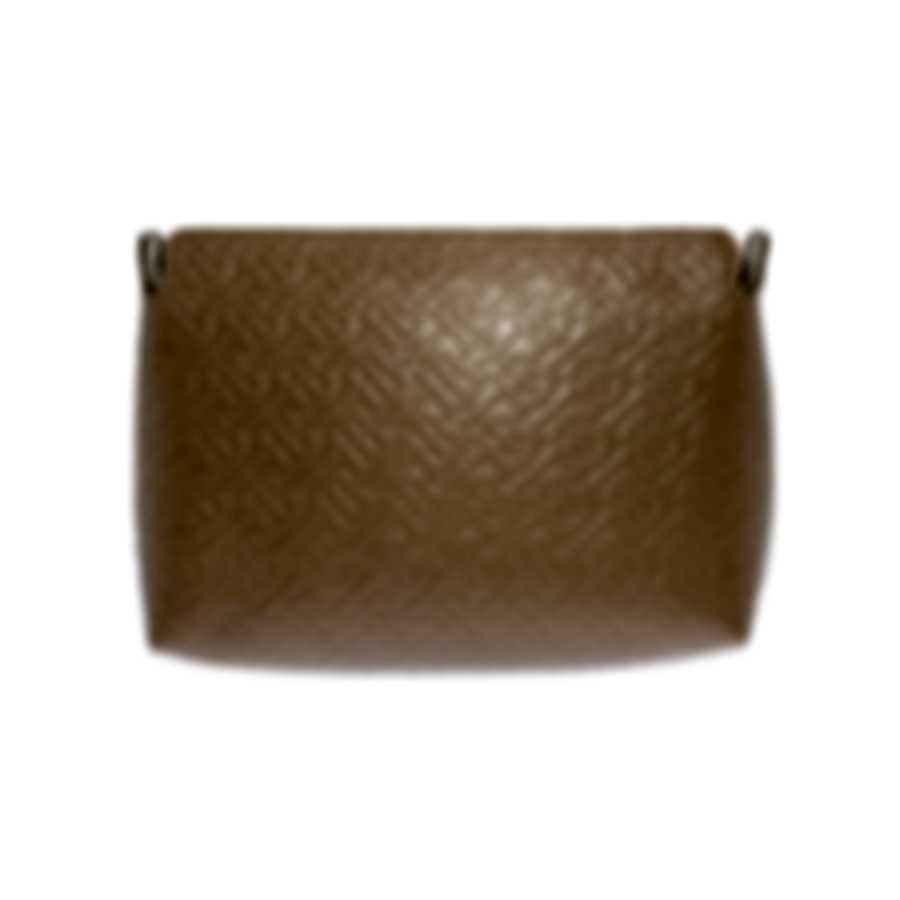 Burberry Monogram Leather Clutch Light Camel & Stone Handbag 8010956