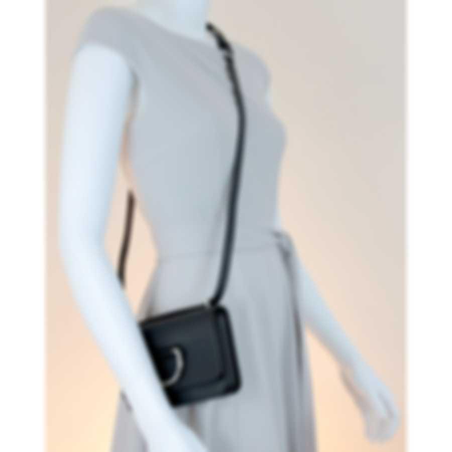 Burberry D-ring Black & Emerald Leather Crossbody Handbag 8011049