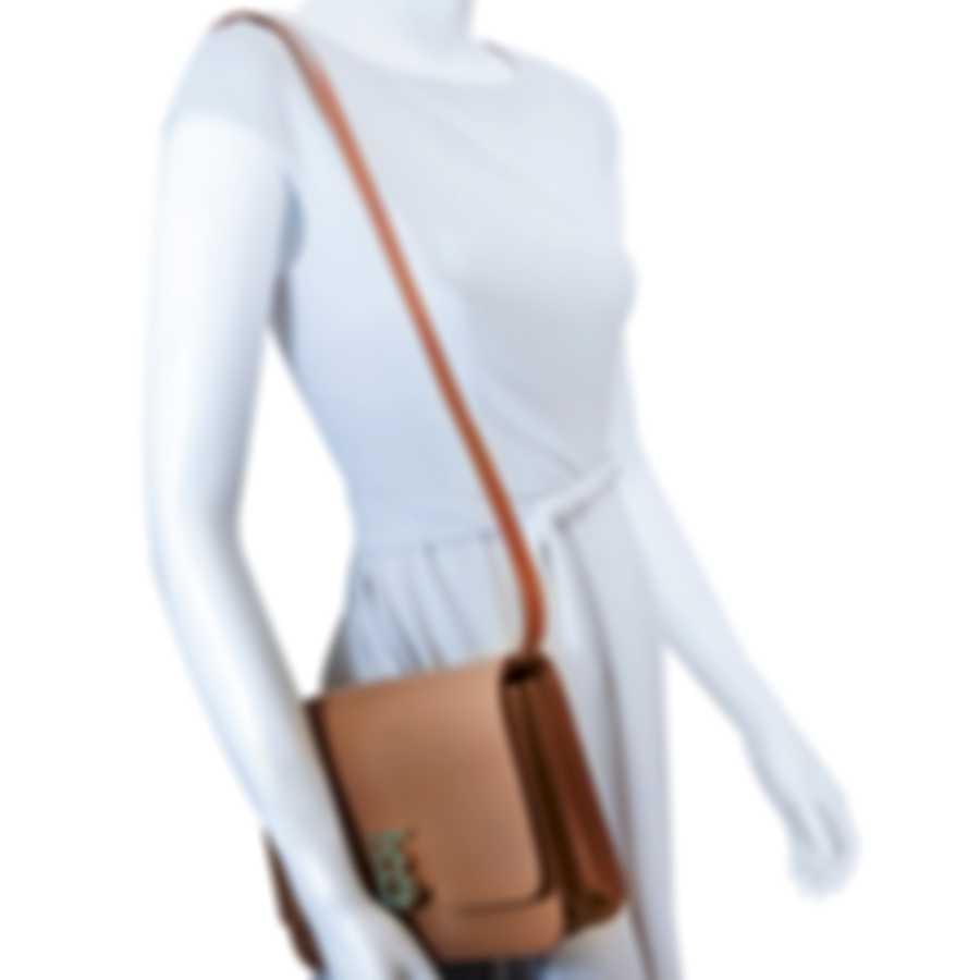 Burberry Flaxseed Leather Shoulder Handbag 8012095