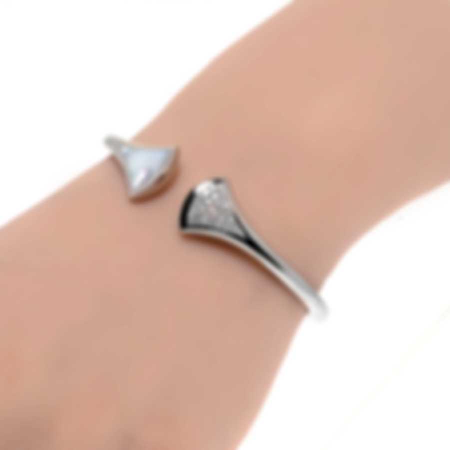 Bvlgari Diva's Dream 18k White Gold Diamond 0.43ct And Mother Of Pearl Bracelet 2658076001